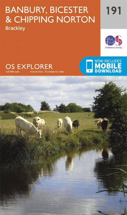 OS Explorer 191 - Banbury, Bicester & Chipping Norton & Brackley